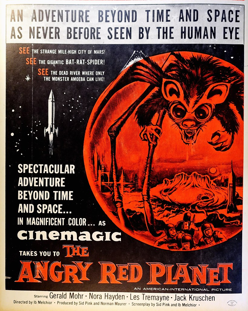 The Angry Red Planet (AIP, 1959). Window Card from the Benton Card Co.